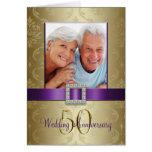 Invitación púrpura 2 del aniversario de boda del tarjeton