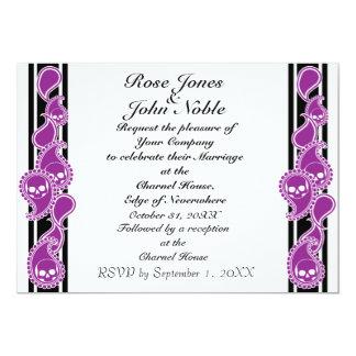 Invitación (púrpura) anversa del boda
