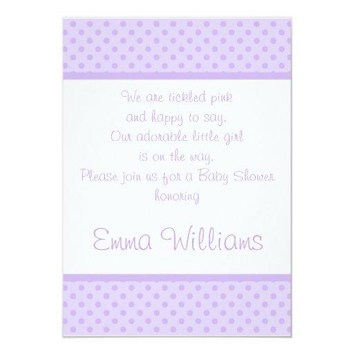 Invitación púrpura blanca de la fiesta de