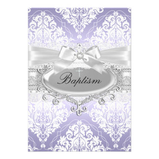 Invitación púrpura bonita del damasco y del