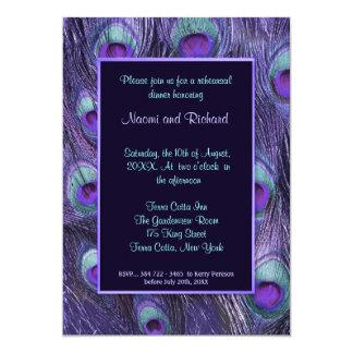 Invitación púrpura de la cena del ensayo de la
