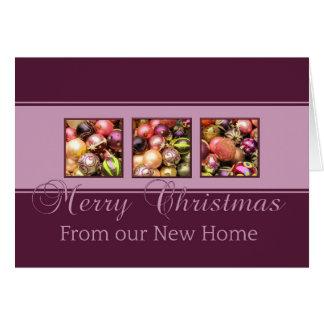 Invitación púrpura de la dirección de los ornament felicitación