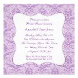 Invitación púrpura de la elegancia del damasco
