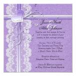 Invitación púrpura de lujo del boda de la invitación 13,3 cm x 13,3cm