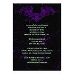 Invitación púrpura de mármol agrietada del boda de