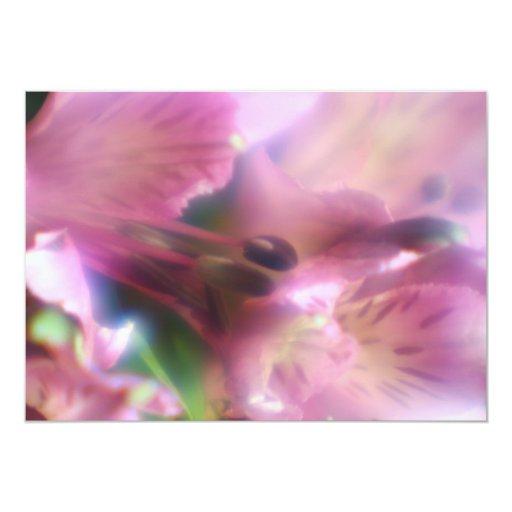 Invitación púrpura del Alstroemeria Invitación 12,7 X 17,8 Cm