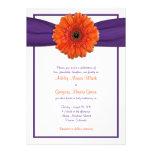 Invitación púrpura del boda de la margarita anaran