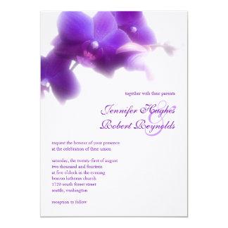 Invitación púrpura del boda de la orquídea