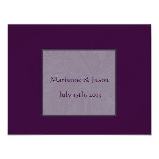 Invitación púrpura del boda de Nouveau Snowdrops