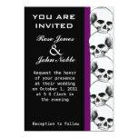 Invitación (púrpura) del boda del ébano de los