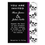 Invitación (púrpura) del boda del ébano de los crá