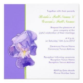 Invitación púrpura del boda del iris invitación 13,3 cm x 13,3cm