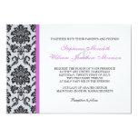 Invitación púrpura del boda del monograma del