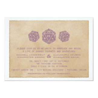 Invitación púrpura del boda del videojugador de