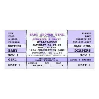 Invitación púrpura del boleto del concierto de la