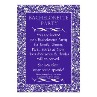 Invitación púrpura del fiesta de Bachelorette de Invitación 12,7 X 17,8 Cm