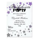 Invitación púrpura del fiesta de Bachelorette de