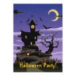 Invitación púrpura del fiesta de Halloween de la Invitación 12,7 X 17,8 Cm