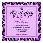 Invitación púrpura del leopardo