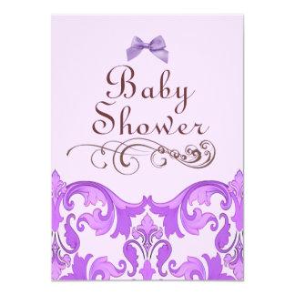 Invitación púrpura elegante de la fiesta de