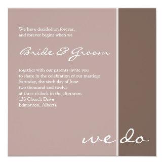 Invitación púrpura elegante del boda