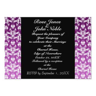 Invitación (púrpura) negra azul del boda