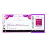 Invitación púrpura/rosada del boda del documento