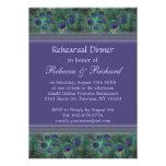 Invitación púrpura verde de la cena del ensayo del