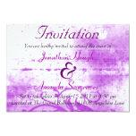 Invitación púrpura y blanca de Spraypaint