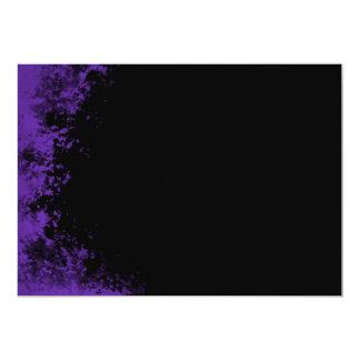 Invitación púrpura y negra del cepillo 2 del
