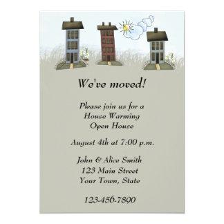 Invitación que se calienta de la casa invitación 12,7 x 17,8 cm