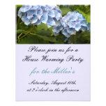 Invitación que se calienta de la casa azul elegant