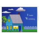 Invitación que se calienta de la casa tarjeta