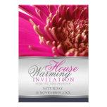 Invitación que se calienta del Gerbera de la casa