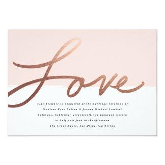 Invitación que se casa con guión del amor el |
