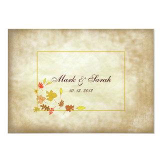 Invitación que se casa de las hojas II del papel Invitación 12,7 X 17,8 Cm