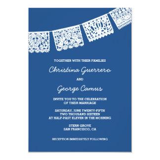 Invitación que se casa del azul el | de Papel