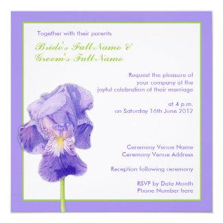 Invitación que se casa del iris 2 púrpuras invitación 13,3 cm x 13,3cm