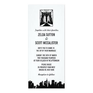 Invitación que se casa del puente de Brooklyn el |