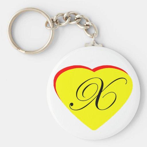 Invitación que se casa del rojo X amarillo del cor Llavero Redondo Tipo Pin