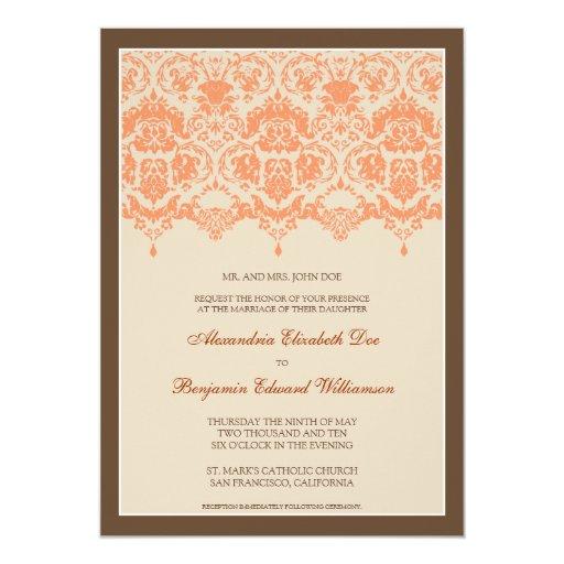 Invitación querida del boda del cordón 5x7 del