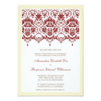 Invitación querida del boda del cordón del