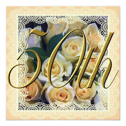 Invitación - ramo cremoso del rosa amarillo