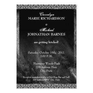 Invitación rara del boda del cuero y del motorista