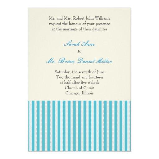 Invitación rayada del boda