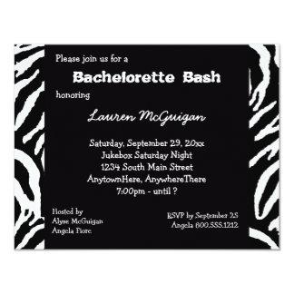 Invitación rayada tigre del fiesta de Bachelorette