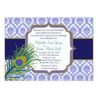 Invitación real del boda del pavo real