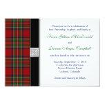 Invitación real del boda del tartán de Estuardo Invitación 12,7 X 17,8 Cm