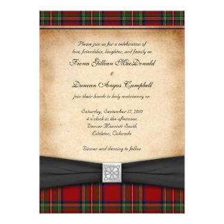 Invitación real del boda del tartán de Estuardo