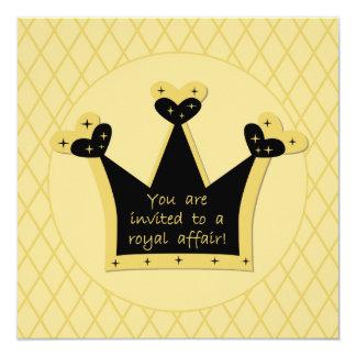 Invitación real del cumpleaños del asunto de la
